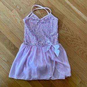 Pink, sparkly leotard